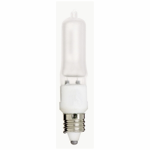 Satco S3182 SATCO S3182 500 Watt Halogen; T4; Frost; 2000 Average Rated Hours; 7650 Lumens; Mini Candle Base; 120 Volts