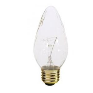 Satco S3376 Incandescent Bulb, F15, 60W, 120V, Clear