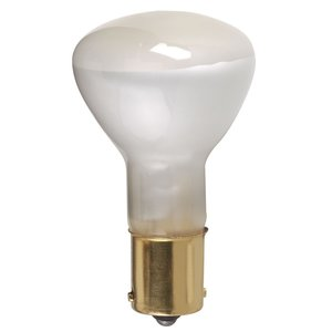 Satco S3618 Incandescent Miniature Lamp, R12, 20W, 13V, Coated