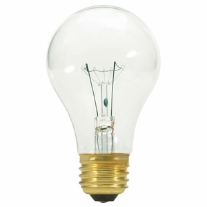 Satco S3941 Incandescent Bulb, A19, 40W, 130V, Clear