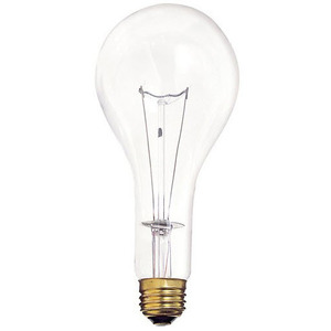 Satco S4959 Incandescent Bulb, PS25, 300W, 130V, Clear