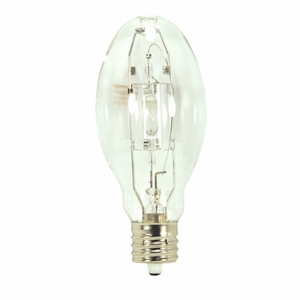Satco S5884 Metal Halide Lamp, Pulse Start, ED37, 400W, Clear