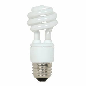 Satco S7211 Compact Fluorescent Lamp, Mini-Twister, 9W, 2700K