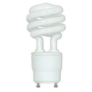 Satco S8205 Compact Fluorescent Lamp, 18W, Twist Lock, 2700K, GU24 Base