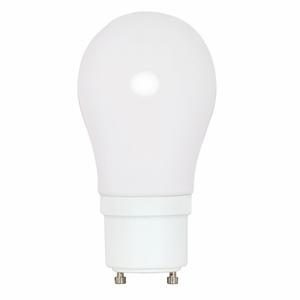Satco S8225 Compact Fluorescent Lamp, A19, Twist Lock, 15W, 2700K