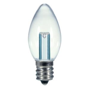 Satco S9156 LED Lamp, C7, 0.5W, 120V, Candelabra Base
