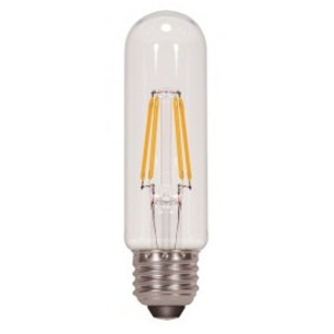 Satco S9580 SATCO S9580 - 4.5 watt T10 LED; Clear; Medium base; 2700K; 430 lumens; 120 volts