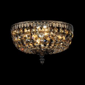Schonbek 5040-65-L Ceiling Light, 4 Light, 40W, Ancient Bronze