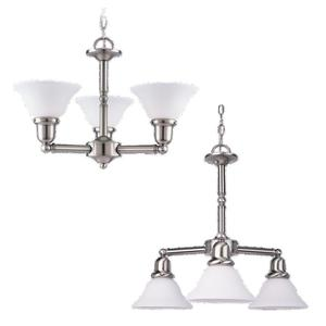 Sea Gull 31060-962 Chandelier, 3-Light, 100W, Brushed Nickel
