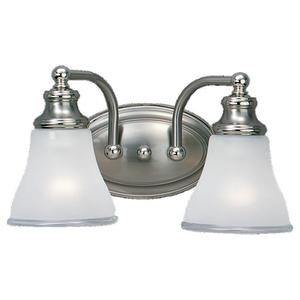 Sea Gull 40010-773 Bath Light, 2 Light, 100W, Two Tone Nickel