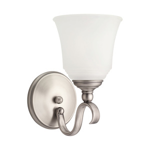 Sea Gull 41380-965 1-Light Wall Sconce, Antique Brushed Nickel