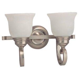 Sea Gull 44190-962 Bath Light, 2-Light, 100W, Brushed Nickel