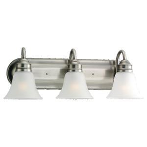 Sea Gull 44852-965 3-Light Wall/Bath Fixture, 100W, 120V, Brushed Nickel Finish
