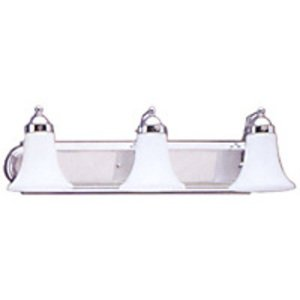 Sea Gull 4859-05 Wall Fixture, 3 Light, Chrome