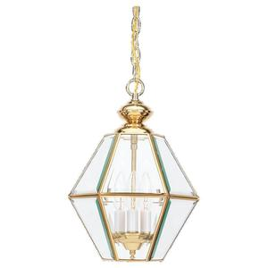 Sea Gull 5116-02 Pendant, 3 Light, 40W, Polished Brass