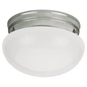 Sea Gull 5326-962 1-Light Ceiling Flush Mount, 60W, A19, 120V, Brushed Nickel