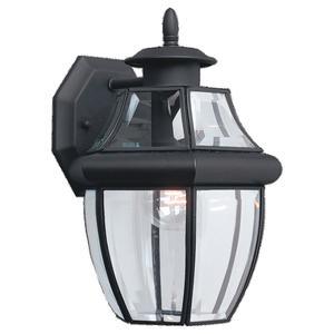 Sea Gull 8038-12 Lantern, Wall, 1 Light, 100 Watt, Medium Base, Black