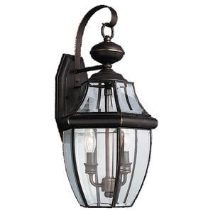 Sea Gull 8039-71 Lantern, Outdoor, 2 Light, 40W, Antique Bronze