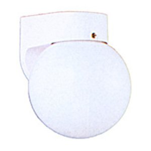 Sea Gull 8753-15 1-Light Outdoor Wall Lantern, 60W, A19, 120V, White Finish