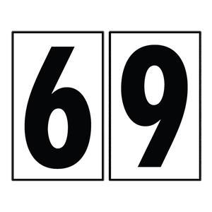"""Sea Gull 90616-68 Address Light Number Tile, #6 or #9, White Plastic, 4"""""""