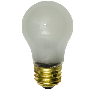 Shat-R-Shield 01124E Incandescent Bulb, Shatter-Resistant, A15, 40W, 230-250V, Frosted