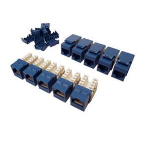 Shaxon BM603U810 Keystone Jack, Cat5E, RJ45, Blue