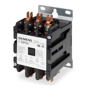 Siemens 42CF35AF Contactor, Definite Purpose, 40A, 600VAC, 120VAC Coil, 3PH, 3P