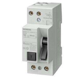 Siemens 5SM3311-6KK13 Breaker, 16A, Residual Current Device, DIN Rail Mount, 24-125VAC