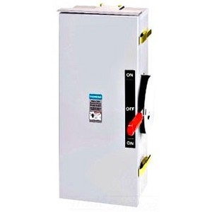 Siemens DTNF223 Safety Switch, Double Throw, 100A, 2P, 240VAC, Non-Fused, NEMA 1