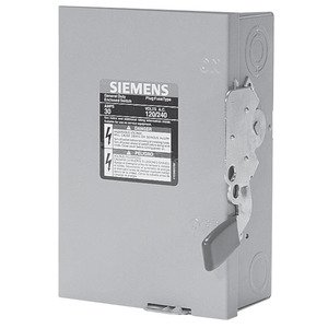 Siemens GF321NR Safety Switch, 30A, 3P, 240V, GD Fusible, NEMA 3R