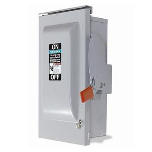 Siemens GF322NR Safety Switch, 60A, 3P, 240V, GD Fusible, NEMA 3R