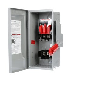 Siemens HF261 Safety Switch, Fused, Type 1, 2P, 30A, 600VAC, HD