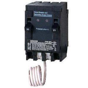 Siemens QSA2020SPD Surge Protective Device, 120VAC, 20A, Panelboard, Single Phase