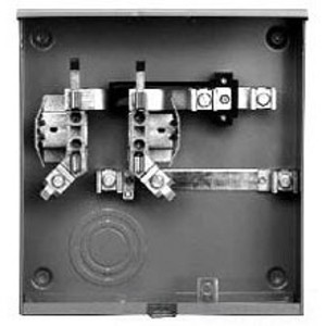 Siemens UAS817-PPGP Meter Base, 200A, 1PH, 4 Jaw, UG Service, Right Hand Bus, Ringless