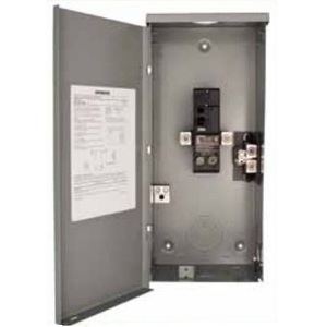 Siemens W0204ML1060 Breaker Enclosure, 60A, 1PH, 240V, 2/4, NEMA 3R