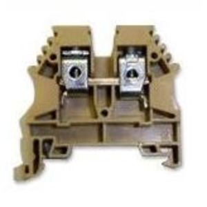 Sola Deck 1450 Terminal Block, 30A, 600VAC, 8mm, DIN Rail Mount, Tan