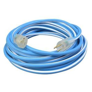 Southwire 1638SW0061 Extension Cord, Cold Supreme, Lighted End, 50' Long, Blue/White