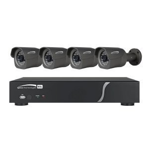 Speco Technologies ZIPL4B1 4 Channel Plug-and-Play NVR 1080p, 120FPS, 1TB w/ 4 Outdoor IR Bullet 2.8mm lens