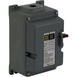 Square D 2510MCR3 Motor Starter Manual, Push Button, 600VAC, 7.5-10HP, Overload Block
