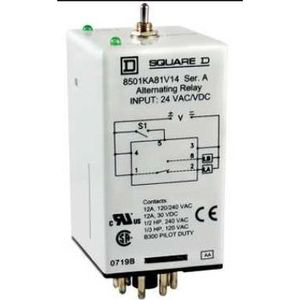 Square D 8501KA82V24 ALT RELAY, 8 PIN,