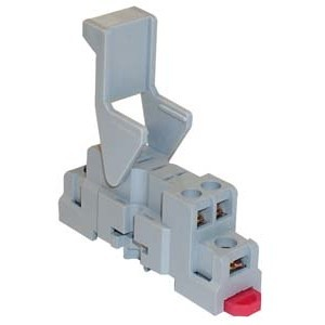 Square D 8501NR41B Relay, Socket, 5 Blade, 15A, 300VAC, DIN Rail Mount, Screw Clamp