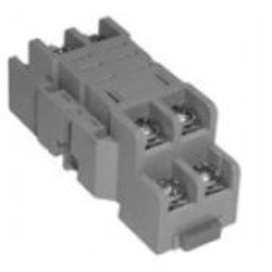 Square D 8501NR42 Relay, Socket, 8 Blade, 10A, 300VAC, DIN Rail Mount, Screw Clamp