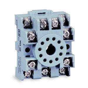Square D 8501NR62 Relay, Socket, 11 Pin, 5A, 600VAC, DIN Rail Mount, Screw Clamp