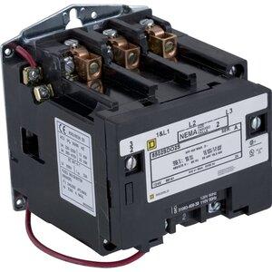 Square D 8502SDO2V02S Contactor, 45A, 600VAC, NEMA Size 2, 120VAC, Coil, 3P, 3PH, 25HP