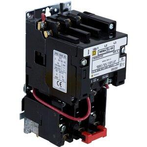 Square D 8536SAO12V02S Starter, Size 00, 9A, 600VAC, 120VAC Coil, Non-Reversing, Open, 3P