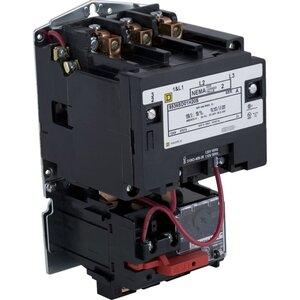 Square D 8536SCO3V02H30S Starter, Size 1, 27A, 600VAC, 120VAC Coil, Non-Reversing, 3P, Open