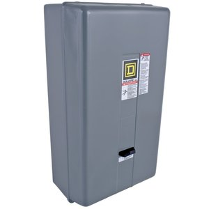Square D 8536SEG1V02S Starter, Size 3, 90A, 600VAC, 120VAC Coil, Non-Reversing, NEMA 1