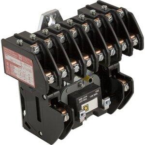 Square D 8903LO1000V02 Contactor, Lighting, 30A, 600VAC, 120VAC Coil, 10P, NO Contacts