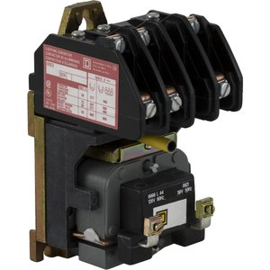 Square D 8903LO30V02 Contactor, Lighting, 20A, 3P, 3NO, 120VAC Coil, Electrically Held