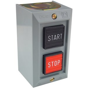 Square D 9001BG201 Control Station, 2-Button, NEMA 1 Enclosure, Momentary, STOP/START